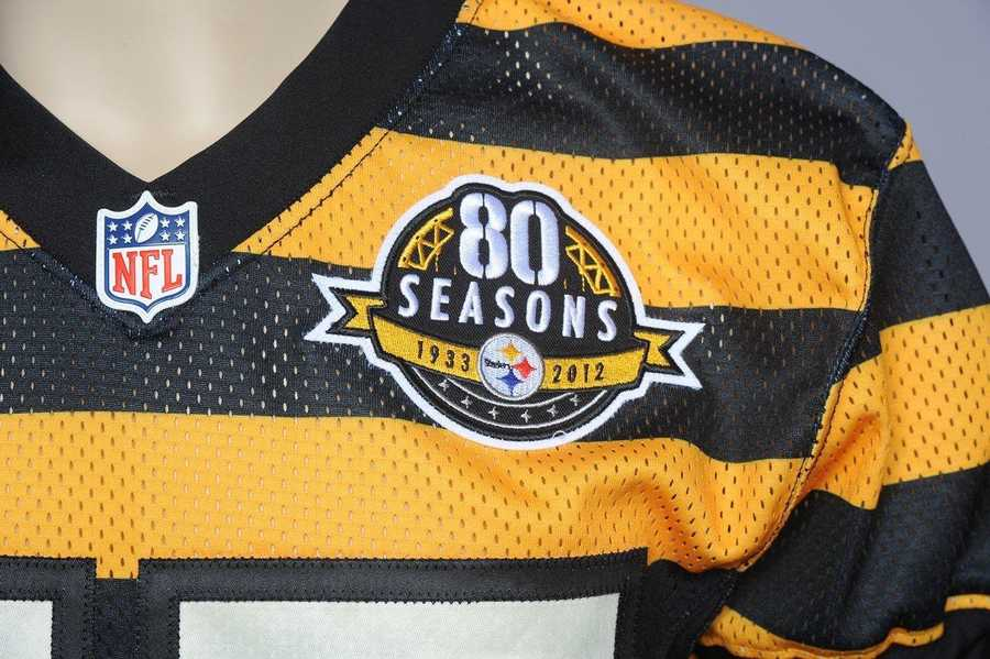 """The Pittsburgh Steelers celebrate their 80th anniversary this season and will wear special """"throwback uniforms"""" in two games."""
