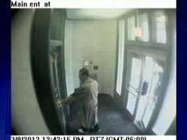 Surveillance video captured John Shick entering Western Psych just after 1:40 p.m. March 8.