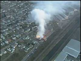 Fire ripped through the famous Sarris Candies buildingin Canonsburg early on the morning of Feb. 3, 2012.