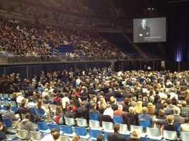 Joe Paterno memorial service at Bryce Jordan Center