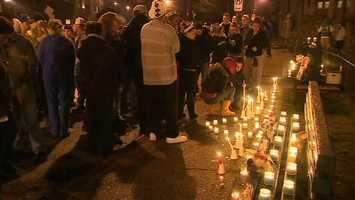A vigil was held on Brookline Boulevard in Brookline, the neighborhood where Karissa Kunco grew up.