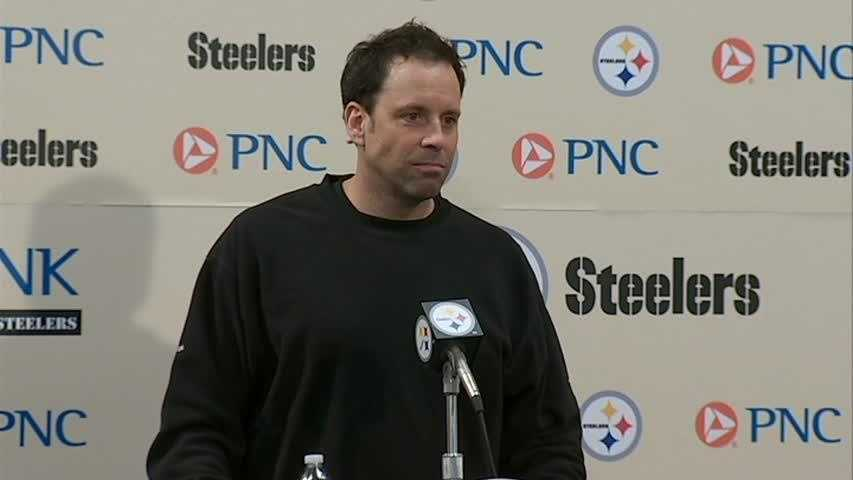 Steelers offensive coordinator Todd Haley