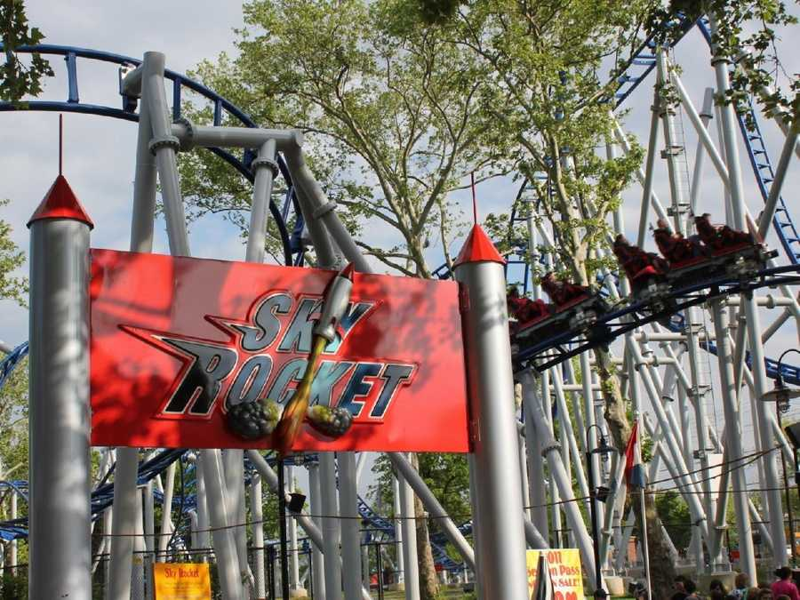 The Sky Rocket is the newest roller coaster at the park, introduced in 2010.