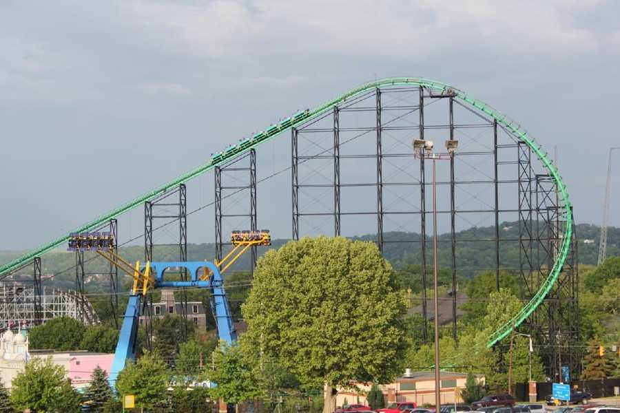 The Phantom's Revenge is the tallest roller coaster at Kennywood and can be seen from nearby communities.