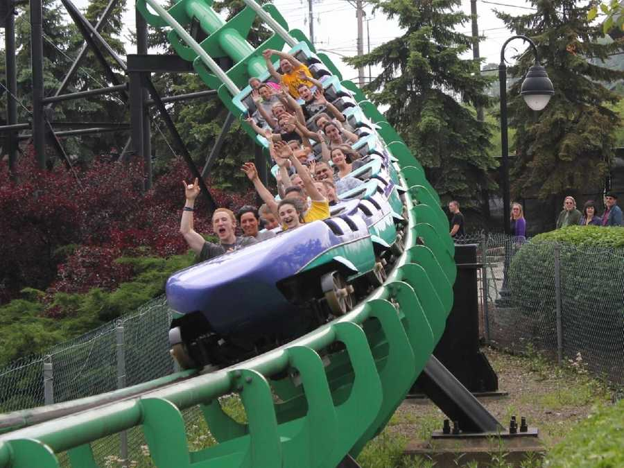 The ride reaches a top speed of 85 mph, making it one of the world's fastest roller coasters.