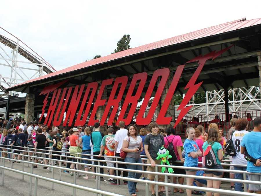 The Thunderbolt is another one of Kennywood's original wooden roller coasters.