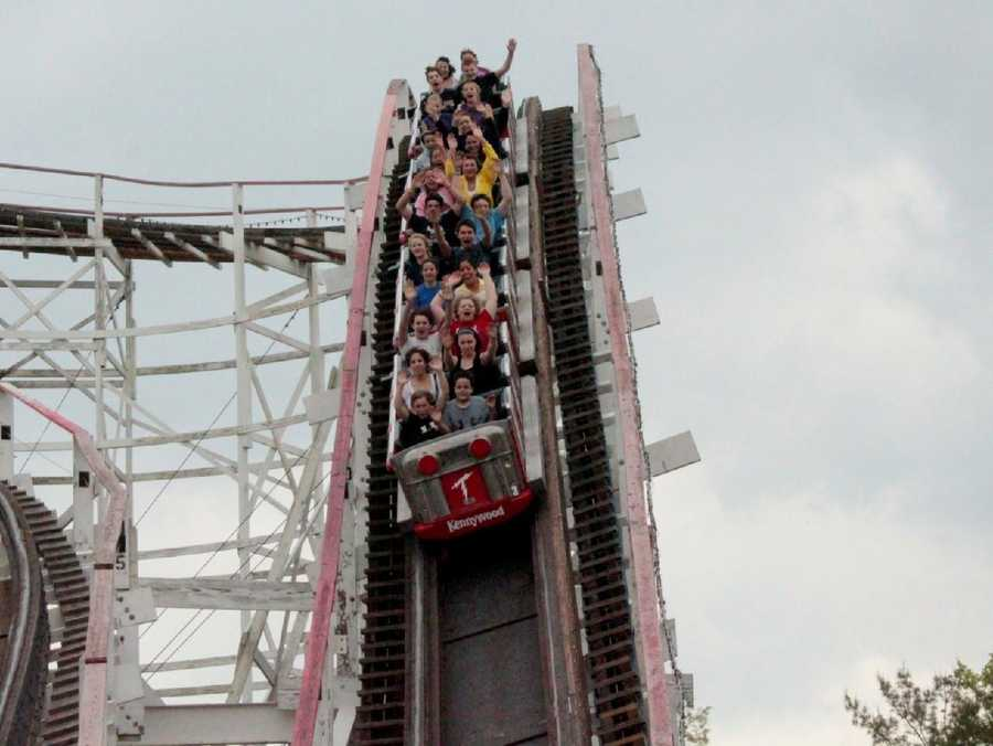 "The Thunderbolt is well known for the 95 foot ""final drop."""