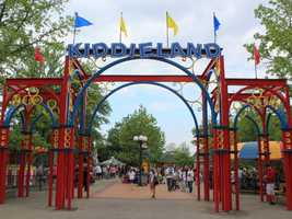 Kiddieland features many miniature versions of the adult rides in the park.