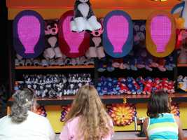 Kennywood also features some of the traditional carnival games....
