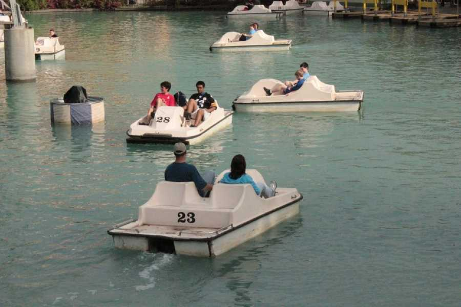 The boats are the park's only remaining human-powered rides.