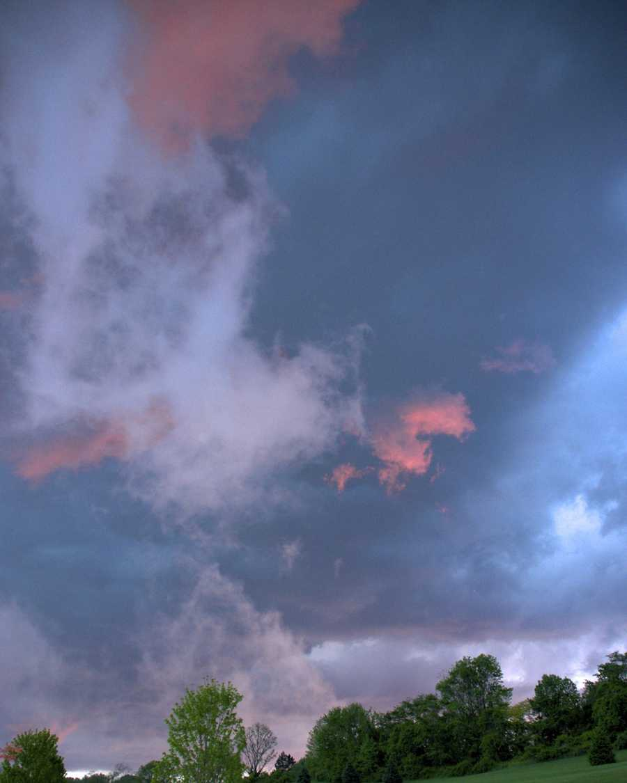 The other factor that played into the unusual clouds was the time of day. The photos were taken near sunset.