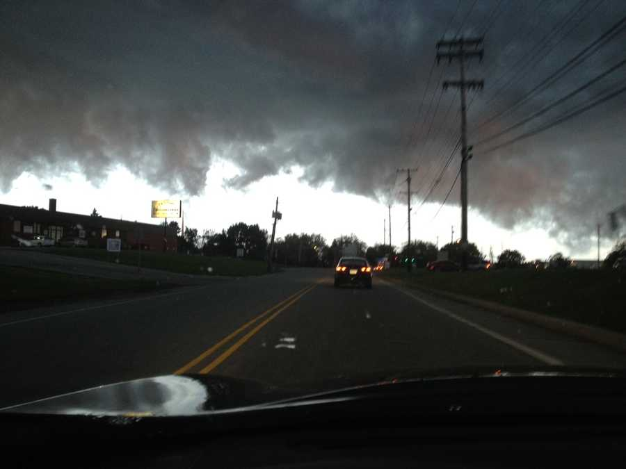 Depending on where you where, the clouds looked quite ominous. This shot came from Michael Krohmaly in Monroeville.