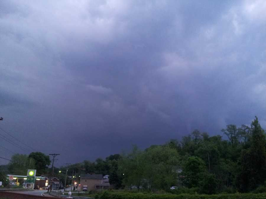 This is a look at the clouds from Nancy Hoke in Forward Twp.