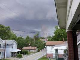 Some thought the clouds looked like a possible tornado or funnel cloud.