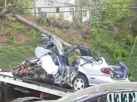 Penn Hills crash (photo from WTAE.com viewer)