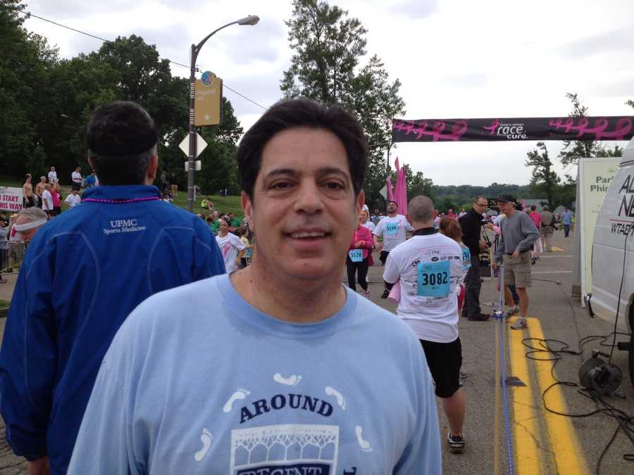 State Sen. Jay Costa at the finish line