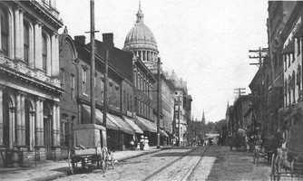 Main Street looking northward toward the present day courthouse.