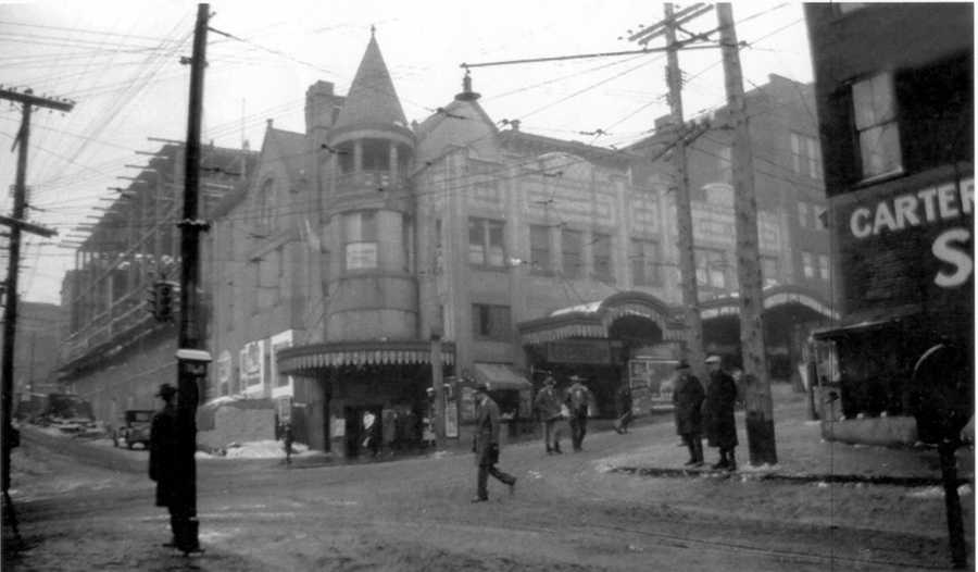 Further work on the Manos Theatre transformation. It would later become the Palace Theatre.