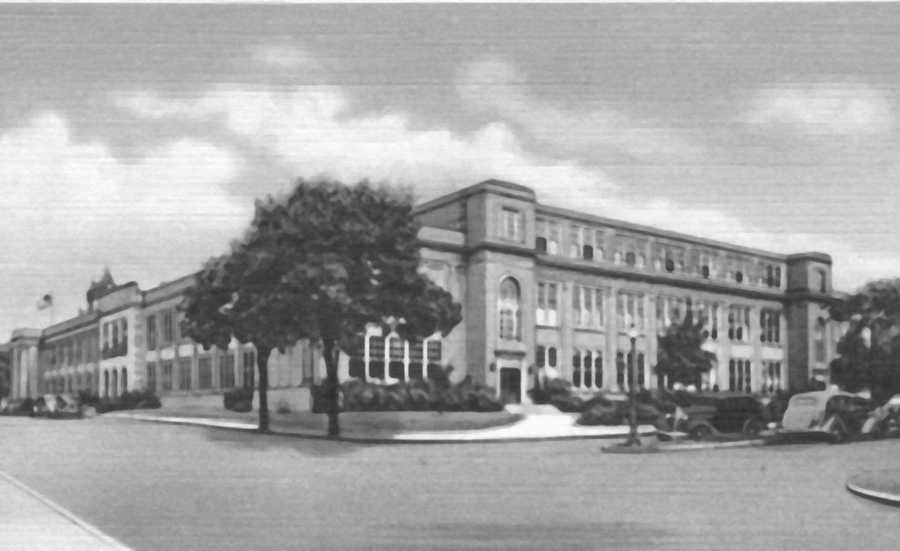Greensburg High School, located off North Main Street in Greensburg.