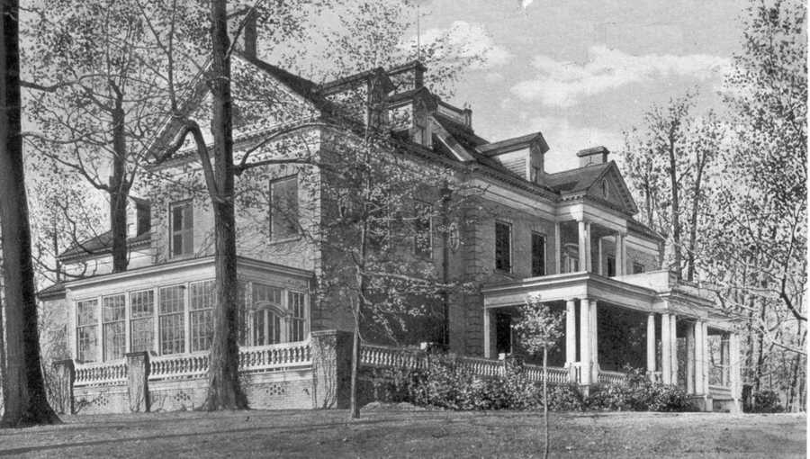 Congressman George F. Huff's home, known as Cabin Hill (1885-1953). It is now the site of West Penn Power.