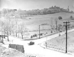1940s view of Seton Hill entrance. Mudville area is no longer there.