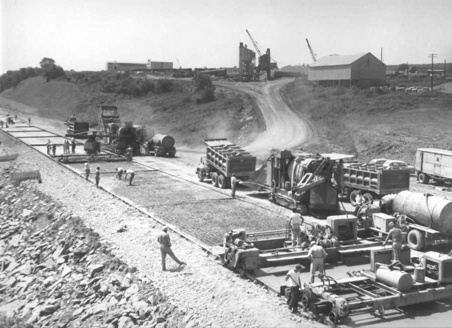 Construction of Greensburg Bypass (Route 30) from 1958-1959