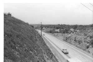 Here's a look at Route 22 looking west toward the city of Pittsburgh. This is circa 1950.