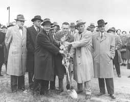 November 1953: A ceremony is held to break ground on the new Miracle Mile Shopping Center in Monroeville.