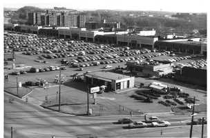1987 - Overhead look at the Miracle Mile Shopping Plaza