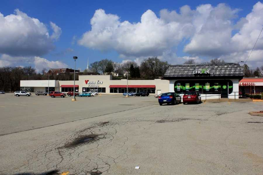 2012 - Value City Furniture sits on the area where the Zayre store used to be.