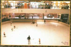 1983 - A view of the ice skating rink inside the Monroeville Mall. Yes, an ice rink! (It's a food court now.)