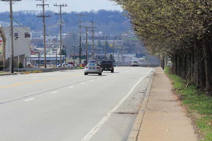 2012 - A look along Route 22 where the Holiday House once stood.
