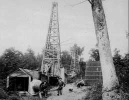 Milltown was home to one of the earliest oil wells in Penn Hills. By 1920, there were twenty wells in the area, producing approximately 2,000 barrels of oil per month.