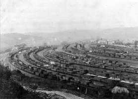 Andrew Carnegie built the railroad to carry iron ore to his steel mills in Pittsburgh.  As you can tell by this picture, nearly every track was filled in the North Bessemer railyard.