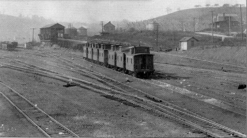 The railroad built a roundhouse and repair shops which were a major employer in Penn Hills.