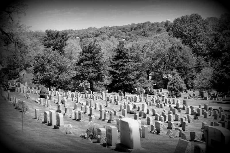 Mt. Carmel Cemetery opened in the 1880s. Holy Trinity Catholic Church in Pittsburgh owned 14 acres of land outside the city, in what would become Penn Hills.  When the cemetery first opened, it was difficult for horse-drawn wagons to make it up the rocky, then-muddy terrain.