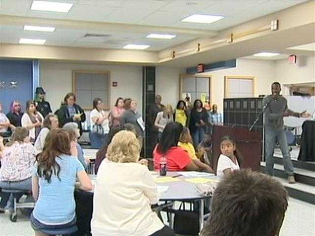 The school board held a meeting to discuss the changes with students and parents.