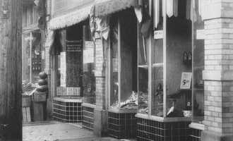"""The area of 1718-1720 Murray Avenue in 1932.  Pictured is Ben Little's Shoe Store.  The store moved to the middle of Forbes Ave. and remains one of the largest quality shoe stores in Pittsburgh. The older images in this slide show are from the book """"Squirrel Hill"""" prepared by the Squirrel Hill Historical Society and published by Arcadia Publishing. The full book may be purchased through Arcadia on their website."""