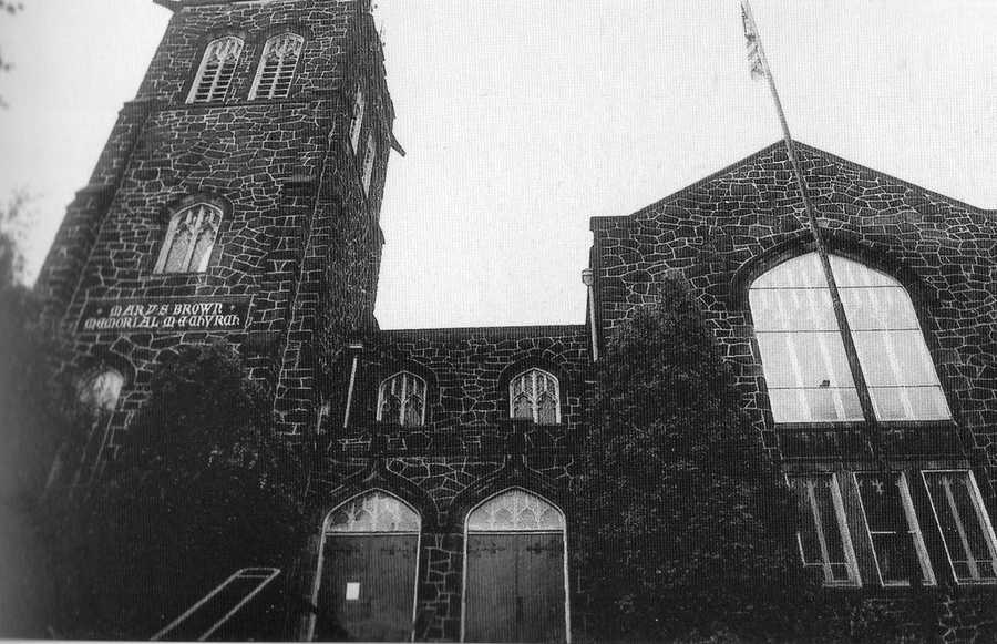 The Mary S. Brown Memorial Methodist Episcopal Church pictured here on the corner of Beechwood Blvd and Lilac Street in 1941. It was built in 1909.