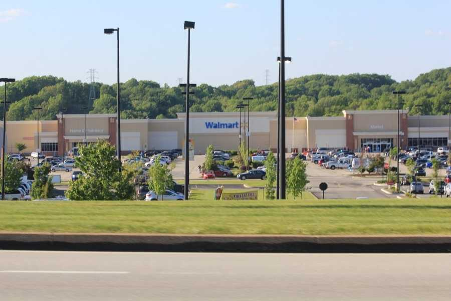 The farm was located in the same general area as the current site of the Greengate Center Complex, which includes a number of retail stores, including this Walmart Supercenter pictured above.
