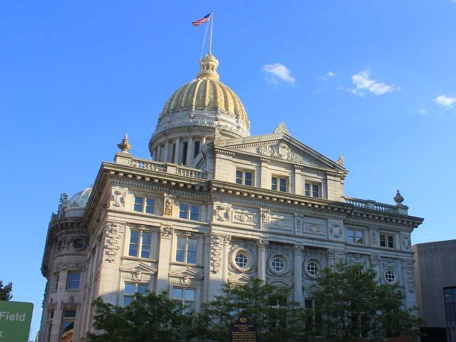The Westmoreland County Courthouse is one of the most visible landmarks in the city. Westmoreland County went through a number of different courthouses throughout the years.