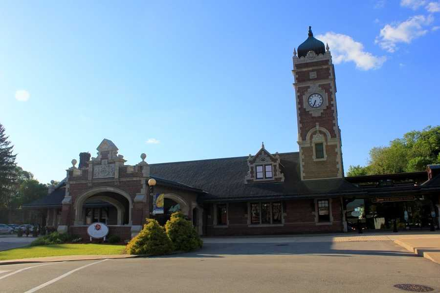 The railroad station retains its historical look to this day, and has been well maintained.