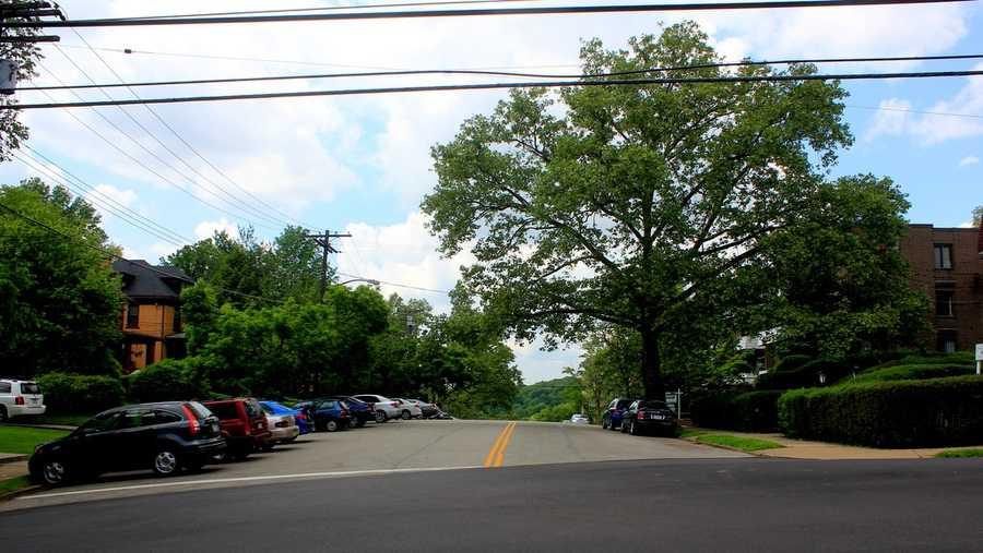Looking west down Morrowfield Avenue toward Murray Avenue.