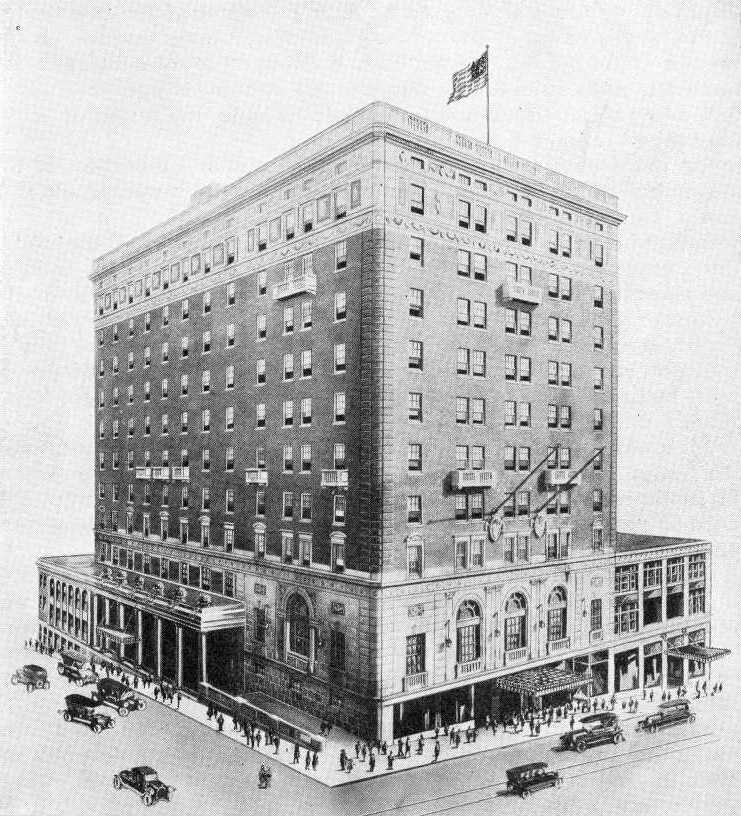 The George Washington Hotel was built in 1923. Building cost more than one million dollars with the furnishings costing more than $250,000. It was a stopping point for John F. Kennedy during his presidential campaign. - 55 South Main Street