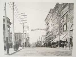 Looking north on South Main Street. Courthouse is on the left.