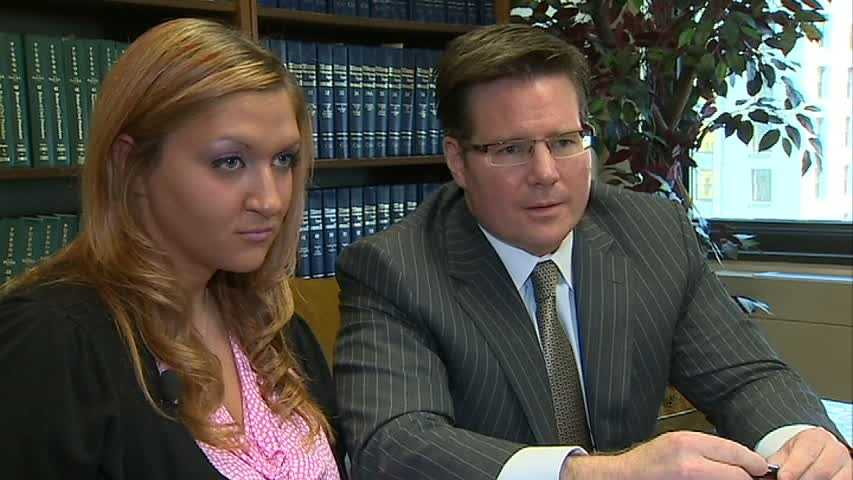 Rachel George and attorney Phil DiLucente