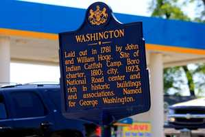 Walk around the area, and you will see dozens of these historical markers -- documenting many of the historical aspects of this community, named after our first U.S. President.