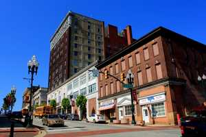 A look at the same corner today, at the corner of S. Main Street and E. Wheeling St.
