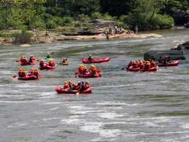 A white water rafting tour down the Yough river.