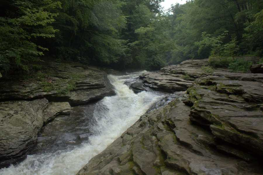 Pictured here is the Meadow Run Waterslide - one of the most unique areas on the entire east coast! VIDEO: Take a tour of Ohiopyle's water slide.